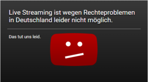 Rechtsprobleme Youtube Live-Streaming