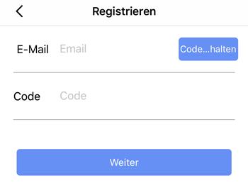 XMEye Registrierung